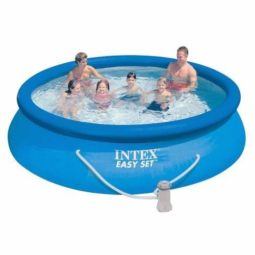 smart choice new 12 39 x30 easy set pool set by intex. Black Bedroom Furniture Sets. Home Design Ideas