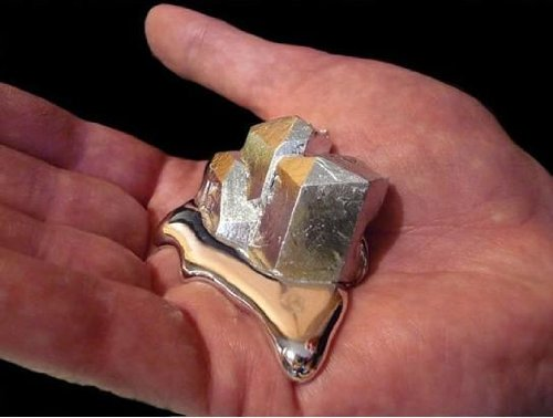 Gallium Metal 40 Grams 99.99% Pure 4N Even Melt In Your Hand