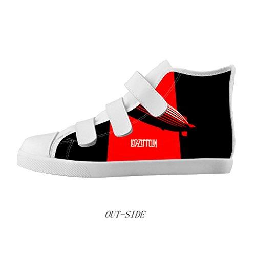 Boy'S Velcro High Top Canvas Shoes Rock Band Led Zeppelin Canvas Shoes 2M