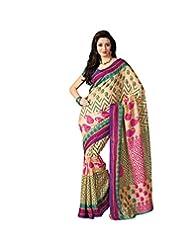 Anvi Creations Beige Multi Bhagalpuri Cotton Silk Saree (Beige_Free Size)