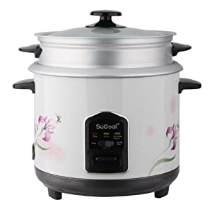 SuGoal Portable Intelligent Automatic Multi-function Rice and Porridge Cooker Rice Maker with 3 Cooking Modes - Non-Stick Cooking Pot - Detachable and Easy to Clean Lid