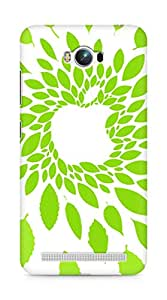 Amez designer printed 3d premium high quality back case cover for Asus Zenfone Max ZC550KL (Apple Logo Green Leaf Pattern)