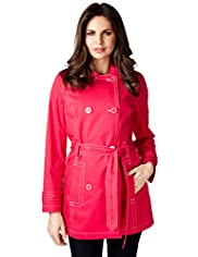 Per Una Cotton Rich Belted Trench Mac with Stormwear&#8482;