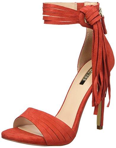 Guess Sue03 Sandali con cinturino alla caviglia, Donna, Rosso, 37