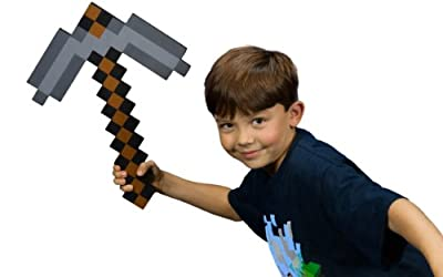 Minecraft Foam Pickaxe Toy Is A Great Christmas Or Birthday Party Gift For Boys Who Like To Play Minecraft Games Online Pretend To Be In The Game With Minecraft Gear Like This Sturdy Eva Foam Pickaxe To Mine Ores Like Coal Stone And Iron from MC Toycraft