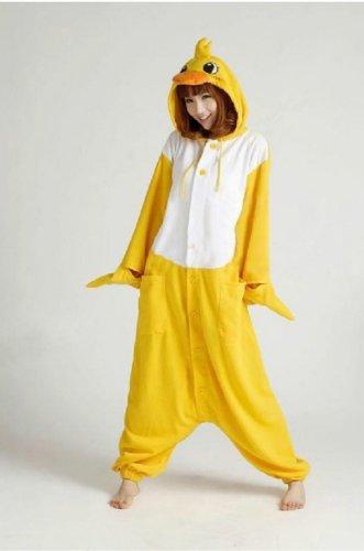 Jp Anime Onesie Fleece Pajamas Duck Costume Adult Hoodies (Size L) front-947065