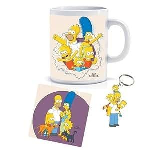 The Simpsons Family Mug, Coaster and Keyring Set