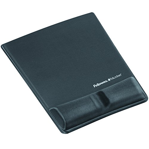 Fellowes Mouse/Wrist Support with Microban Protection, Gel, Graphite (9184001) (Microban Mouse Pad compare prices)