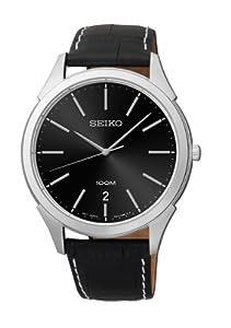 Seiko Men's SGEG69S Quartz Black Dial Watch