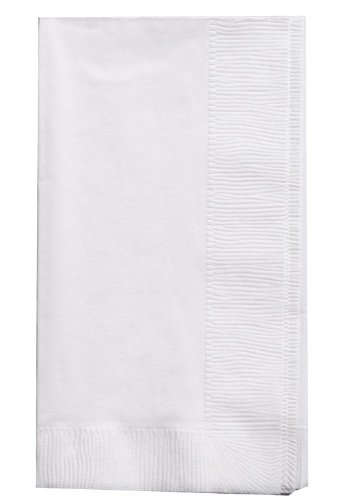 Creative Converting Touch of Color 2-Ply 50 Count Paper Dinner Napkins, White