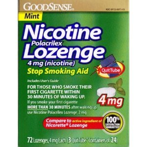 GoodSense Nicotine Polacrilex Lozenge 4mg 72ct *Compare to Nicorette Lozenge* Stop Smoking Aid