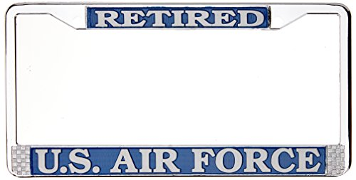 us-air-force-retired-license-plate-frame-chrome-metal