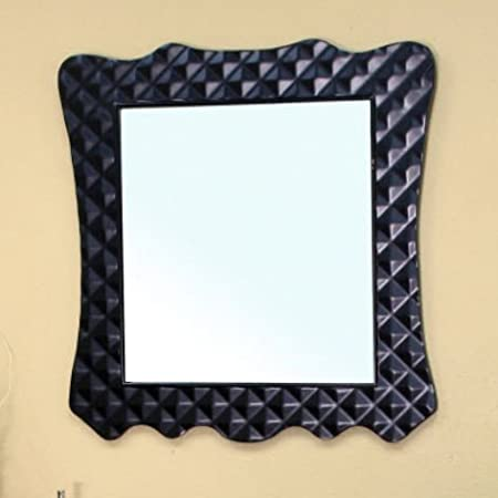 Bellaterra Home 203057B-MIRROR Solid Wood Frame Mirror, Black