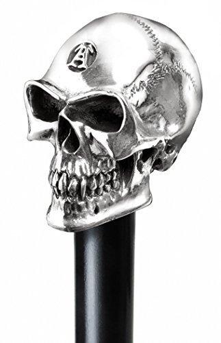 The Alchemist - Hallmarked Silver Skull Walking Stick by Alchemy England