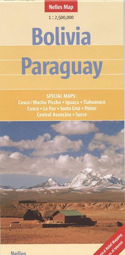 Bolivia and Paraguay Nelles map (Nelles Maps) (English, French, Italian and German Edition)