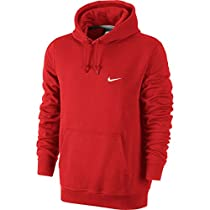 Nike Men's Classic Club Swoosh Pullover Hoodie-University Red-XL