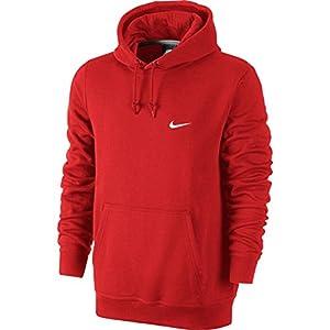 Nike Club Swoosh Mens Red Hoodie Large
