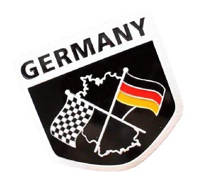 【Cat fight】 ドイツ 国旗 アルミ製 プレートステッカー デコレーションステッカーラベル エンブレム