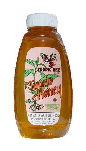 Tropic Bee Tupelo Honey, 16-Ounce Bottles (Pack of 3)