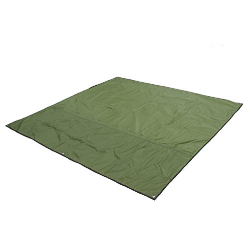 Weanas® 3-4 Person Outdoor Thickened Oxford Fabric Camping Shelter Tent Tarp Canopy Cover Tent Groundsheet Camping Blanket Mat (Green)