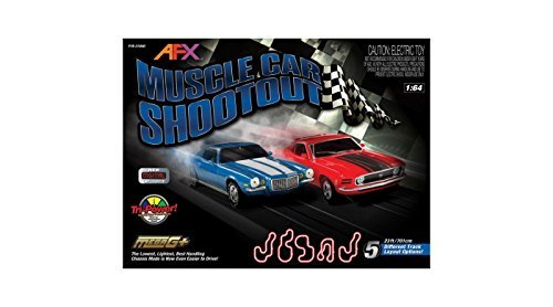 AFX AFX21040 Muscle Car Shootout, w/Lap Counter, Mustang/Camaro (Afx Slot Car Race Track Sets compare prices)