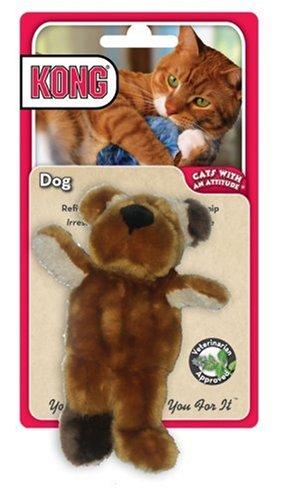 KONG Dog Catnip Toy, Cat Toy, Tan