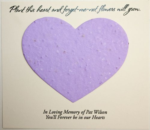 Plantable Heart Forget-Me-Not Seed Funeral Cards (Set of 25)