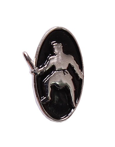 LDS Mens Steel Black Enamel Ammon Tie Tac / Tie Pin for Boys - LDS Tie Tac / LDS Tie Pin - 5/8