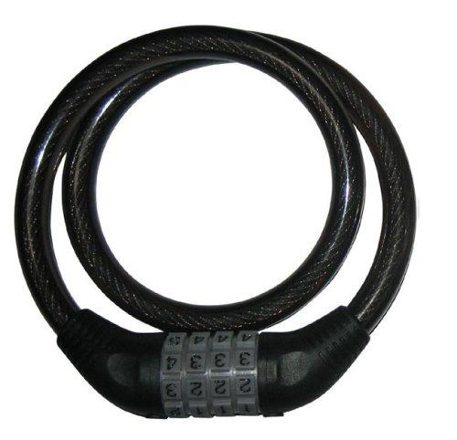 J&C(ジェイアンドシー) ダイヤル式ロック650mm×12φ ブラック [JC-001W]