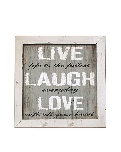 ZZ-LO+DEMODA Pannello Decorativo Live Laugh Love