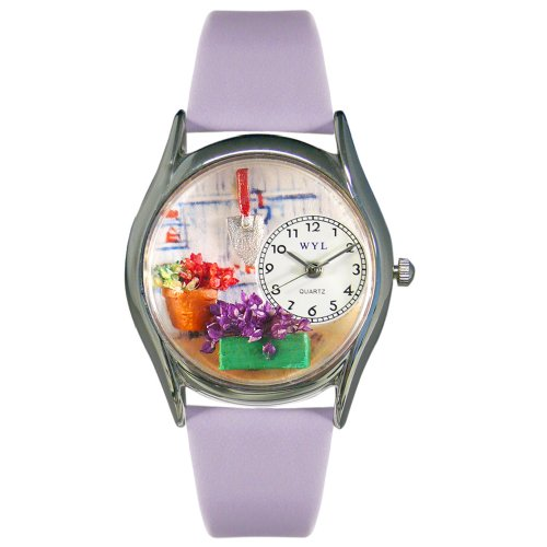 Whimsical Watches Women's S1211001 Gardening Lavender Leather Watch