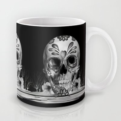 Society6 - Pulled Sugar, Day Of The Dead Skull Coffee Mug By Kristy Patterson Design