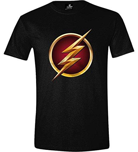 The Flash Logo 3D T-Shirt nero S