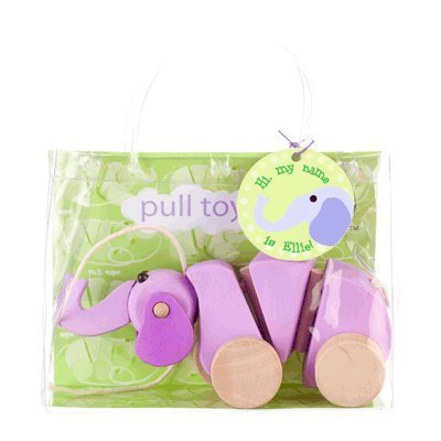 Bead Bazaar Ellie The Elephant Pull Toy front-180159