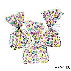 72 EASTER EGG Cellophane GOODY Bags/CELLO Gift/LOOT BAGS for SPRING Parties/FAVOR/CANDY/SWEETS/6 Dozen