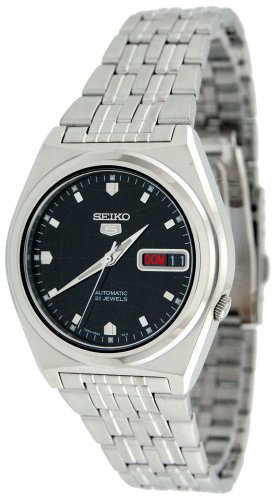 Seiko Men's SNK669K Seiko 5 Automatic Black Dial Stainless Steel Watch
