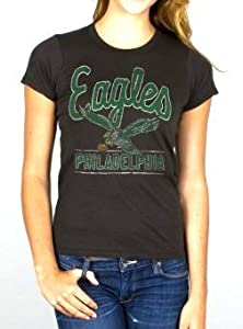 Philadelphia Eagles NFL Ladies Kick Off Crew T-shirt By Junk Food by Junk Food