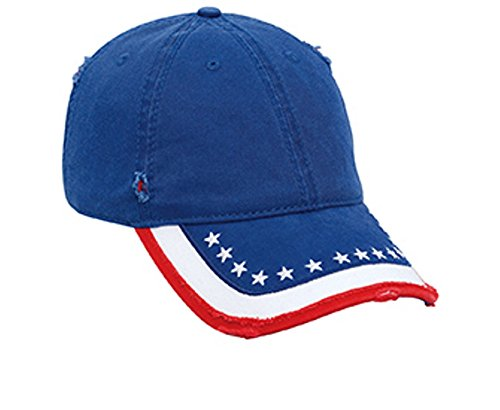 Hats & Caps Shop US Flag Pattern Distressed Superior Garment Washed Cn Twill Low Profile Pro Style Caps - By TheTargetBuys