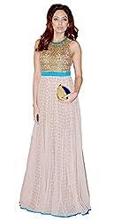 Priyanshu Creation Women's Net Printed Dress Material