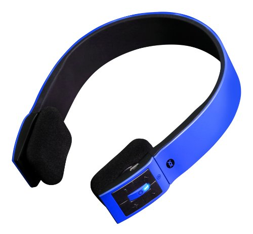 Sonixx X-Sport Wireless Bluetooth Headphones / Headset With Microphone And Remote For All Smartphones (Iphone / Ipad / Android / Windows / Samsung Galaxy / Htc Etc.) - 3 Year Warranty (Blue)