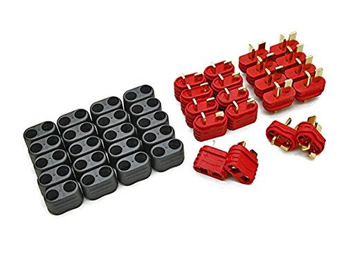 20-Stck-10-Paar-Nylon-T-Dean-Hochstrom-T-Stecker-T-Plug-Connector-DEANS-mit-Isolierhlle-Momentan-die-besten-T-Stecker-auf-dem-Markt-von-Modellbau-Eibl