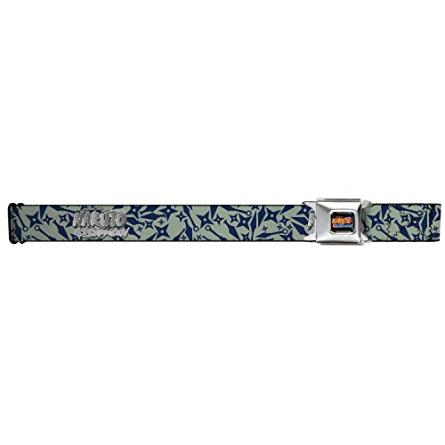 Naruto Shippuden Seatbelt Belt - Weapons Collage Gray/Navy (Nra Belt Buckle compare prices)
