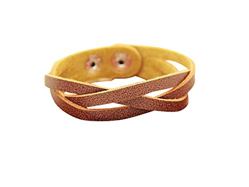 Simple leather bracelet / casual ethnic Asian taste resort [G-premium] mens Womens unisex pair matching, please (Brown)