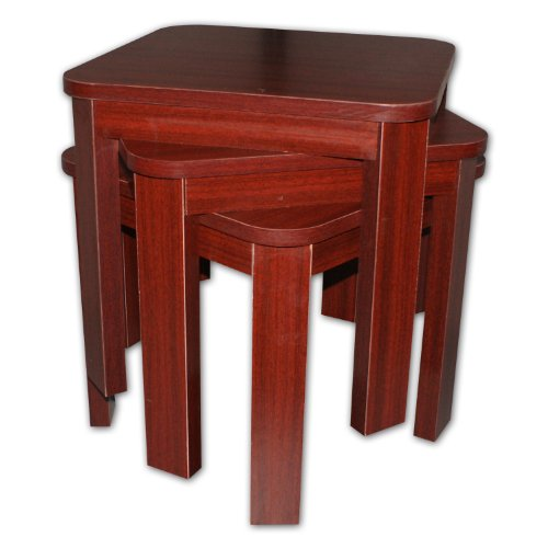 Buy Low Price 3 Piece Stackable Coffee Table Set Red Mahogany S1669 Coffee Table Bargain