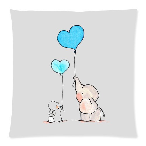 Generic Elephant Zippered Pillowcase 20-inch By 20-inch (Twin Sides) scee by twin set свитер
