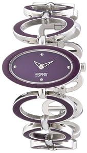 Esprit Damen-Armbanduhr Serpentin Purple Analog Quarz Edelstahl ES103792003