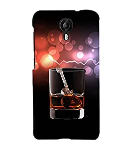 PRINTVISA Whisky Guitar Case Cover for Micromax Canvas NITRO 4G