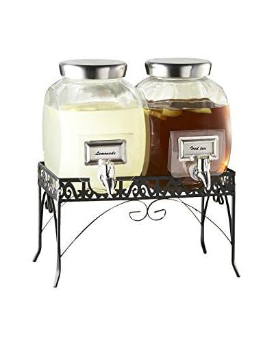 Jay Imports 3-Piece Williamsburg Glass Beverage Dispenser Set