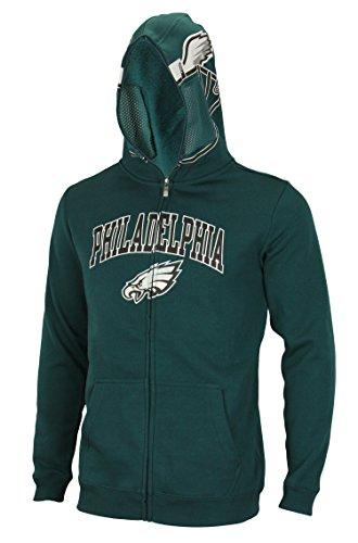 nfl-big-boys-youth-8-18-full-zip-helmet-masked-hoodie-philadelphia-eagles