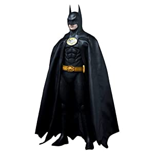 Hot Toys Batman 1989 Movie Masterpiece Deluxe Collectors 1/6 Scale Action Figure Batman Michael Keaton